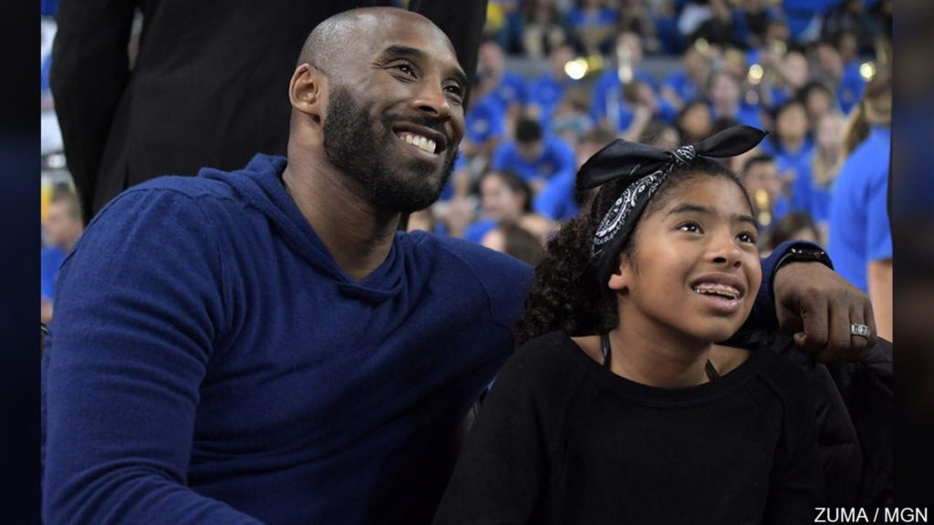 Kobe Bryant and his daughter