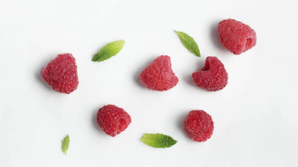 Raspberries Top View