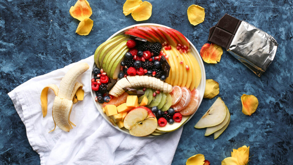 Mix Fruits Images With Top View