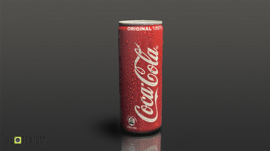 Coca Cola Can in Dark