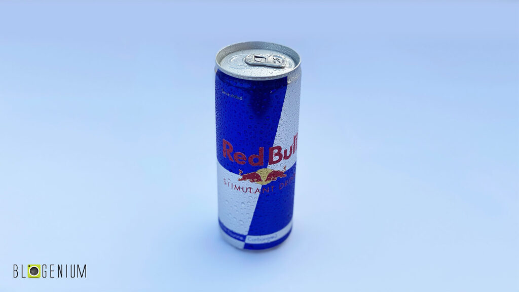 Red Bull Can in Daylight