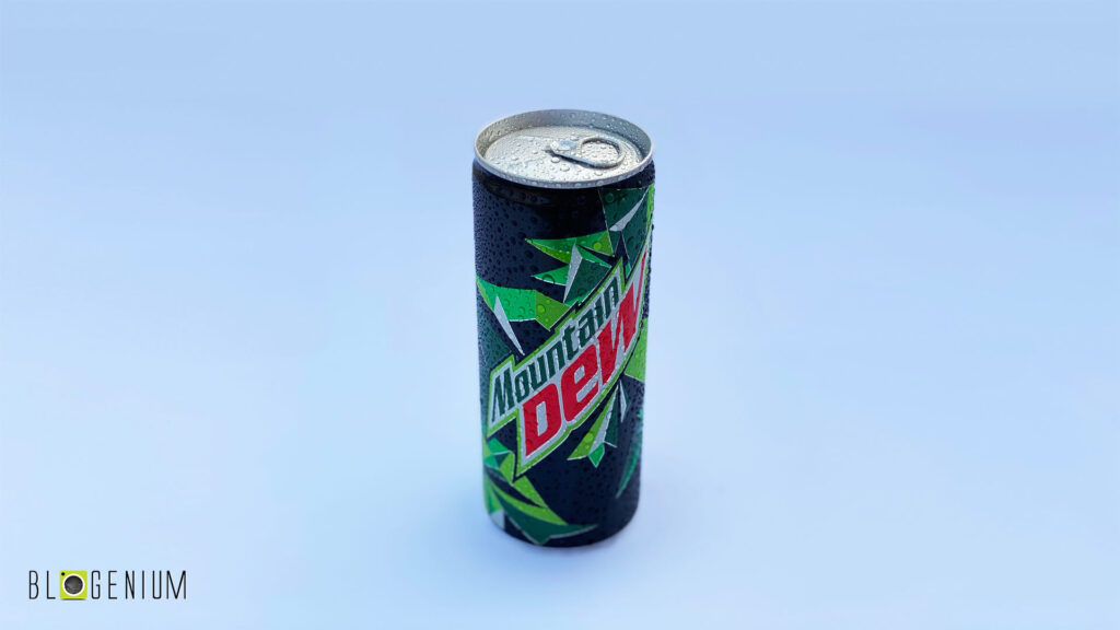 Mountain Dew Can in Daylight