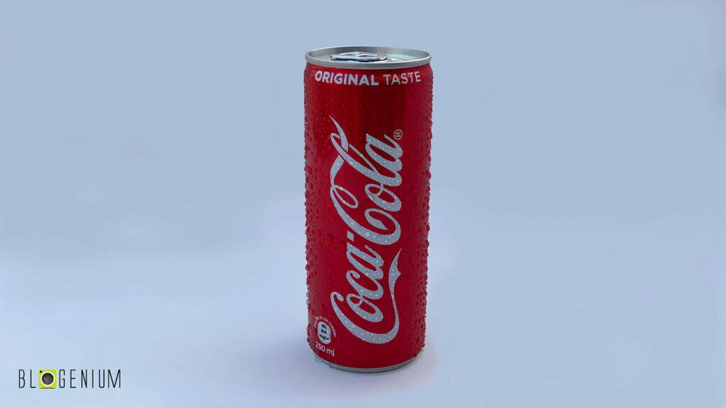 Coca Cola Soft Drink Cans in Daylight