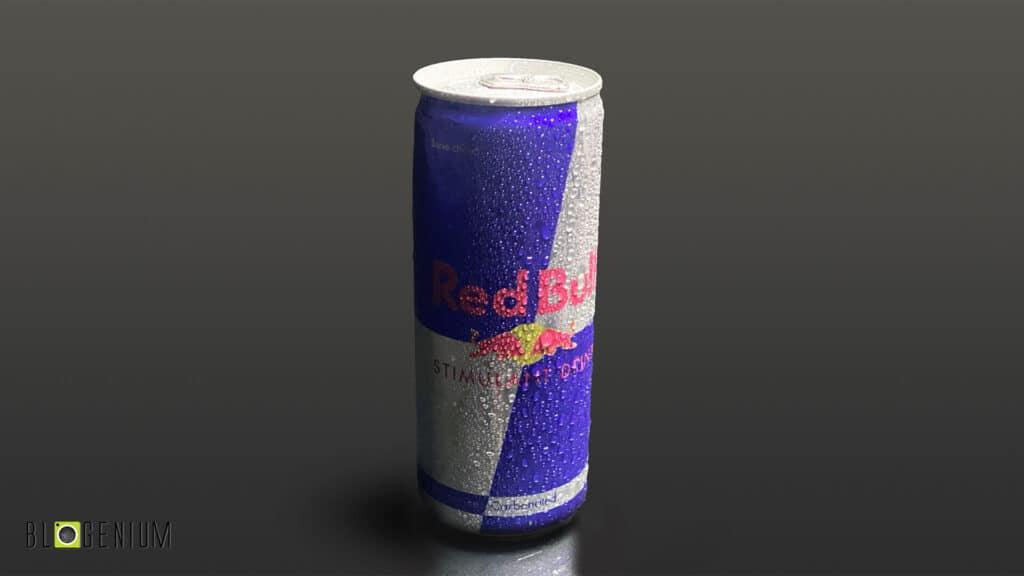 Red Bull Can in Dark