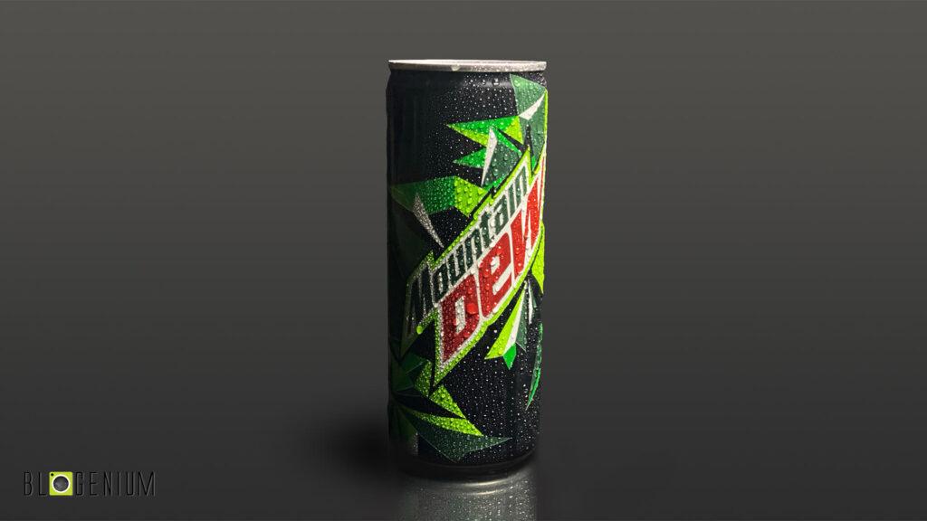 Mountain Dew Can in Dark
