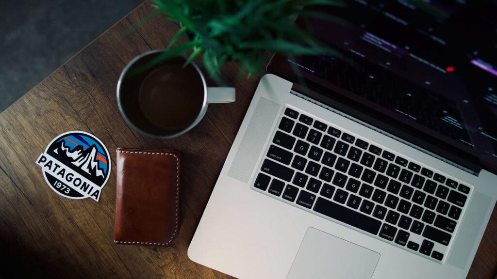 Laptop, Coffee Mug and Wallet