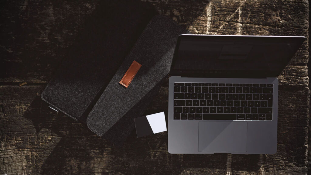 Laptop and Wallet