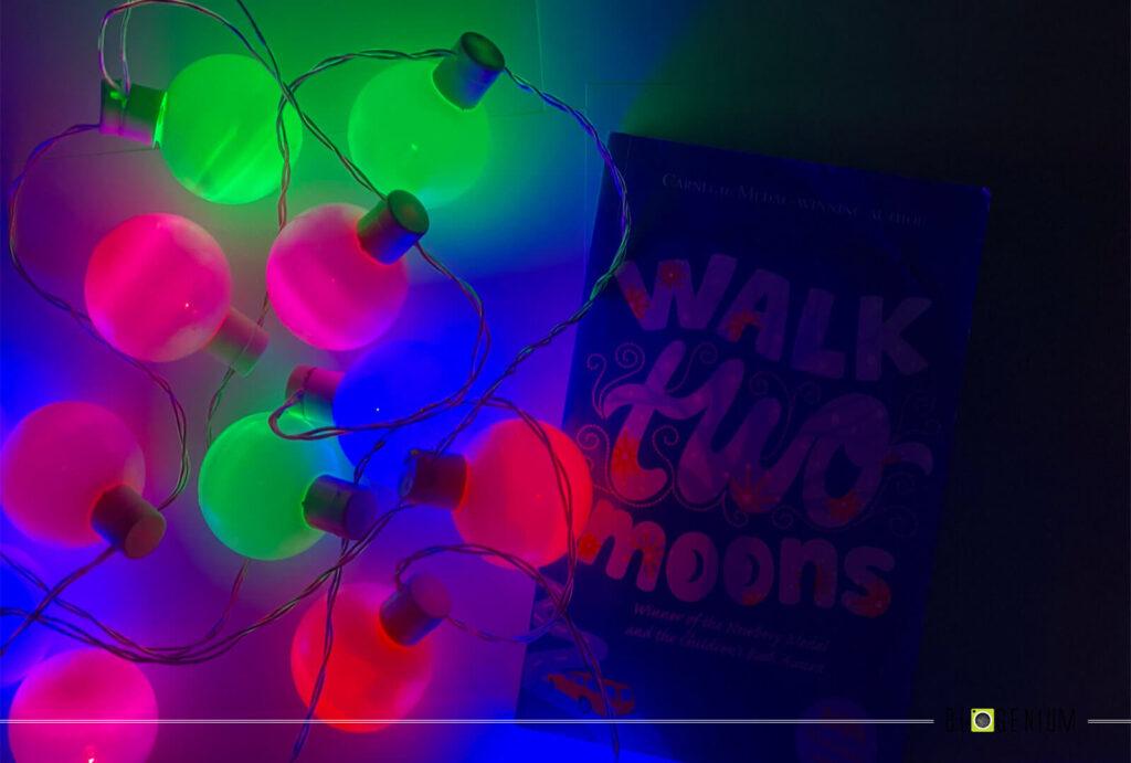 Walk Two Moons book around Multi Lights