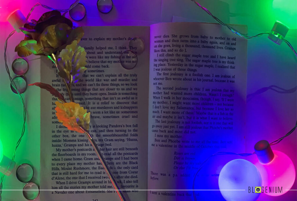 Rings and Flower all around the Book