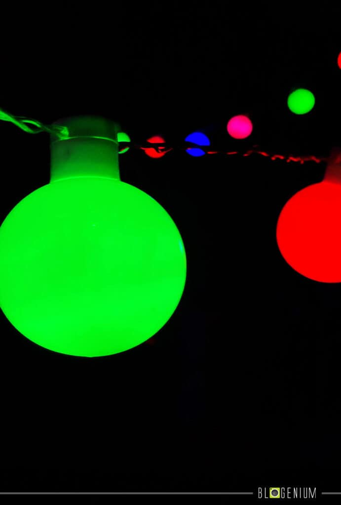 Green, Blue, Red and Orange Bright Lights