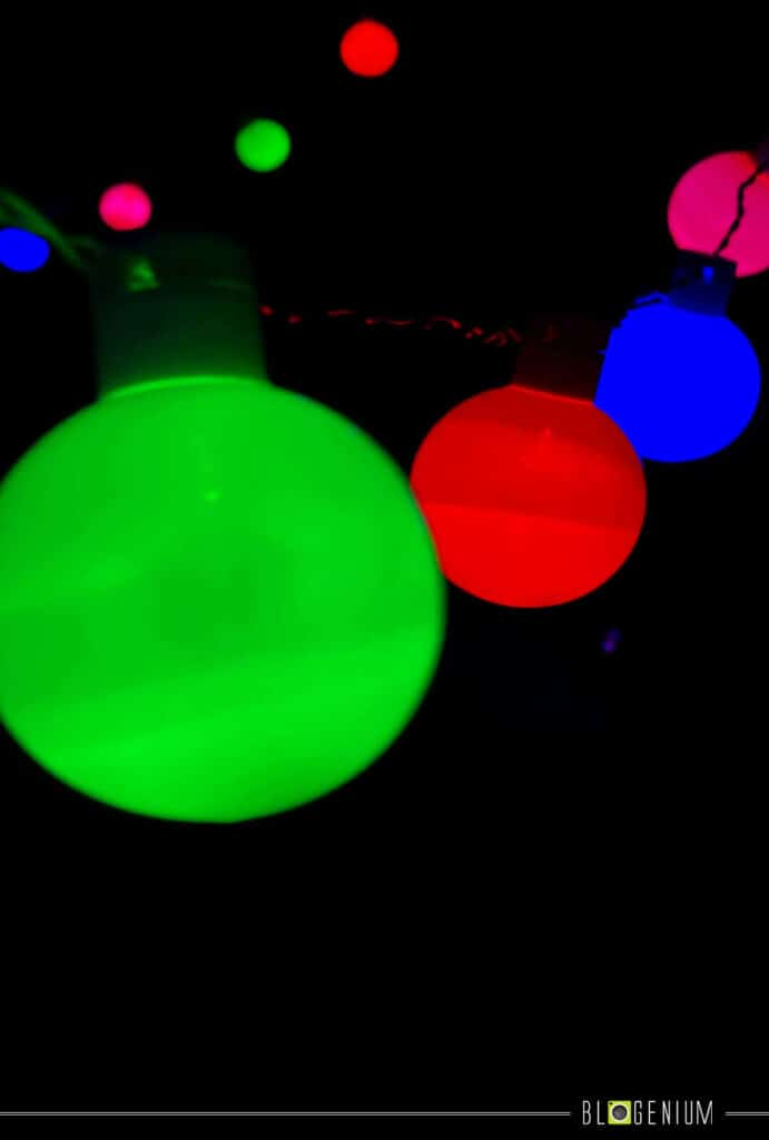 Green, Blue, Red and Orange Multi Lights Wallpapers
