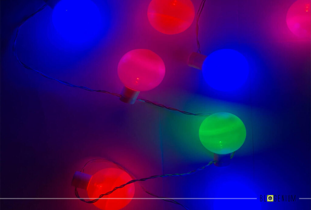 Blue, Green, Red and Pink Lights