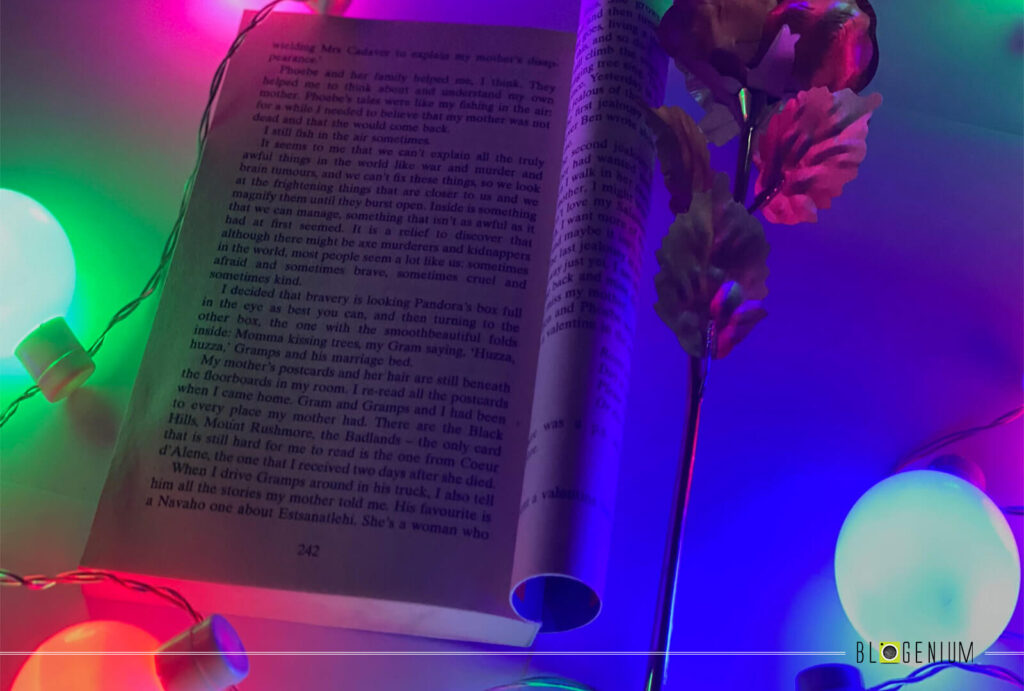 Open Book, Flower and Lights