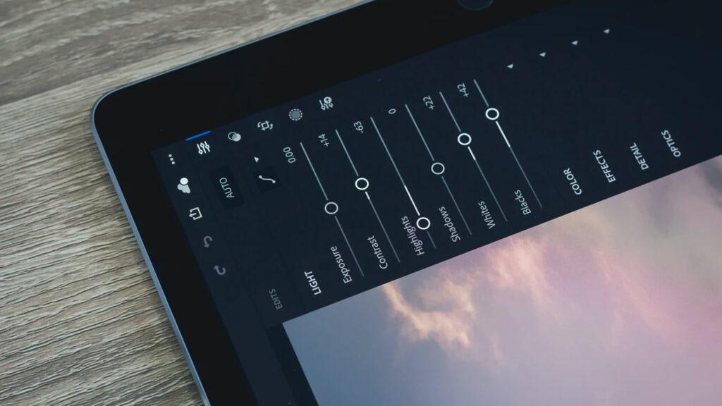 Photography Editing Software Screenshot