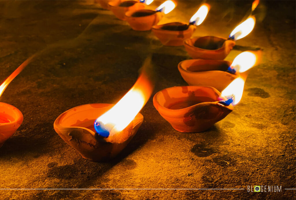 Oil Lamps on the Floor