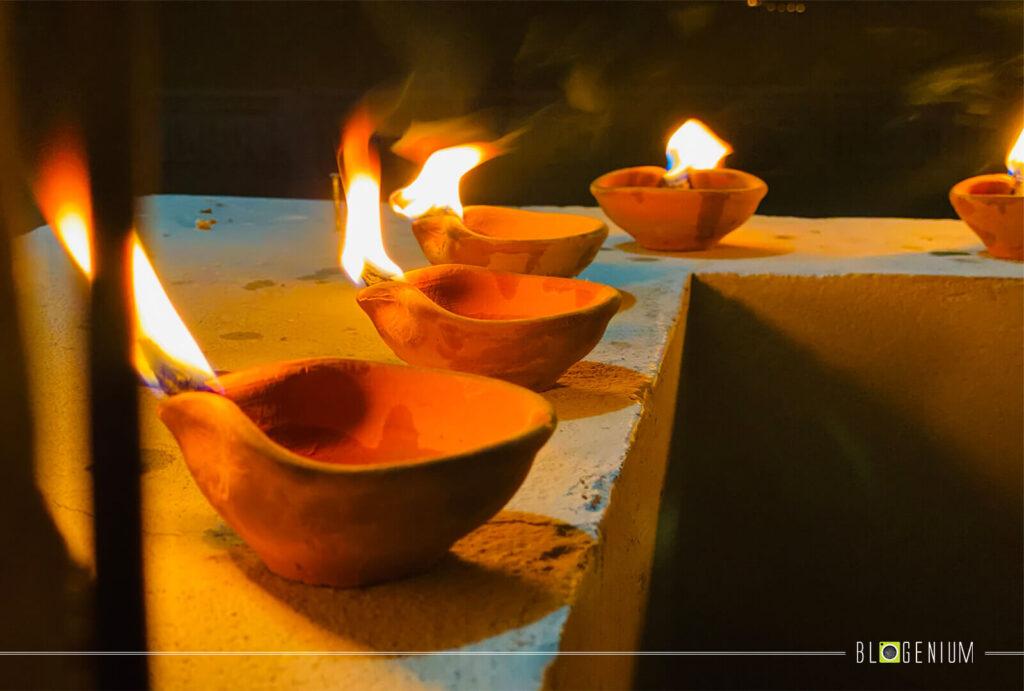 5 Clay Lamps Lightening